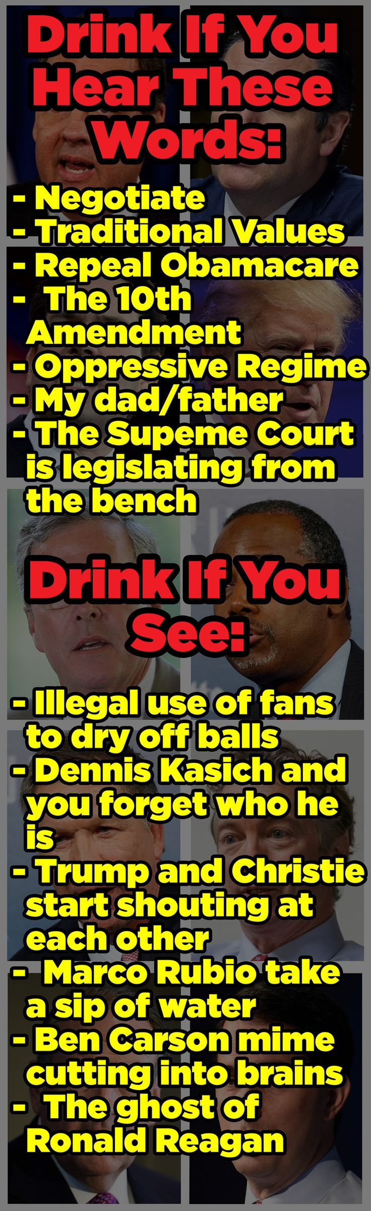 This Is The One True Republican Debate Drinking Game