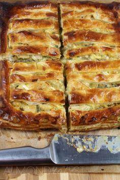Huhn, Lauch und Brie Pie