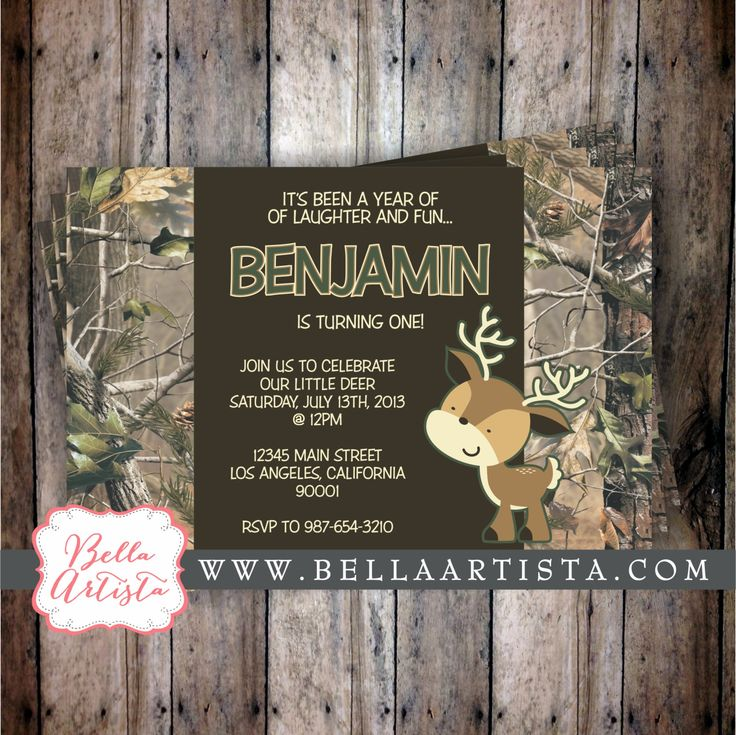 Realtree Camouflage And Deer Baby Shower By