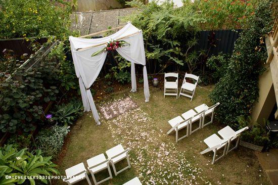 Back Yard under a canopy