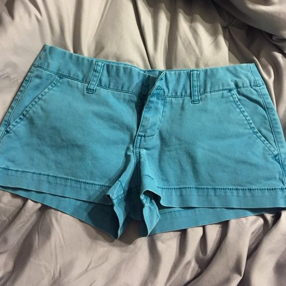 NWOT Teal Shorts purposely faded teal colored shorts - never wore these, just washed. NWOT sz 5. (mossimo brand) American Eagle Outfitters Shorts