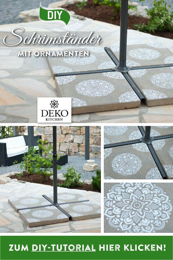 DIY Mit Spray und der richtigen Schablone lassen sich Betonplatten