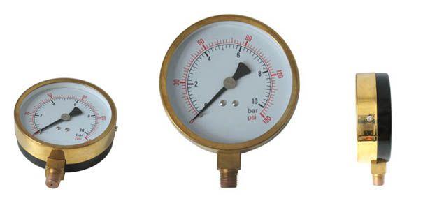 Air pressure gauge, water pressure gauge and gas pressure gauge are used on air, steam, oil, fresh and salt water, air conditioning, pneumatic, hydraulic, water tanks, air compressors, OEM