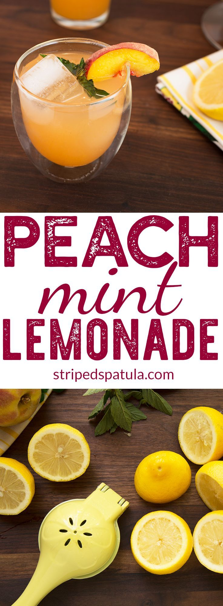 Lemonade | Lemonade Recipe | Homemade Lemonade | Peach Recipes | Drinks nonalcoholic