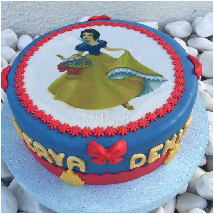 Snow white cake. Snoe White Princess cake. Pamuk prenses pasta.