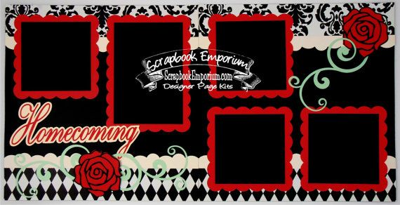 Scrapbook Page Kit Homecoming Dance School by TheScrapbookEmporium, $10.00