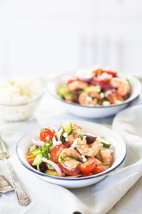 Shrimp mediterranean salad | Eat Good 4 Life