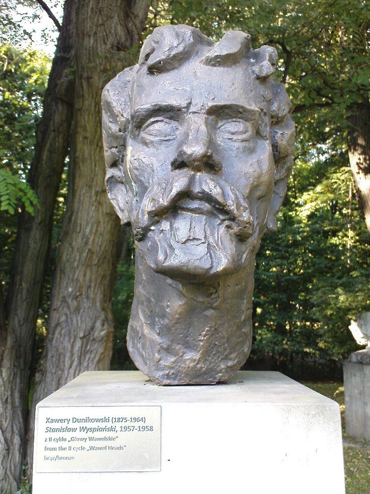 xawery dunikowski, stanisław wyspiański (z cyklu: głowy wawelskie), 1957-58, brąz, królikarnia-warszawa