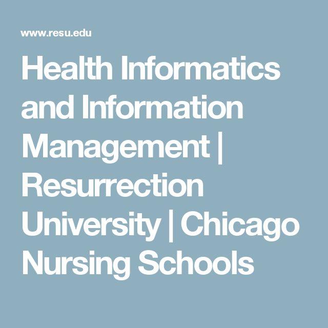Health Informatics and Information Management | Resurrection University | Chicago Nursing Schools