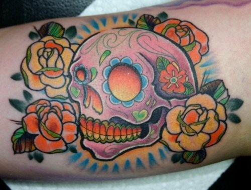 17 best images about sugar skulls day of the dead on for Twisted tattoo chicago