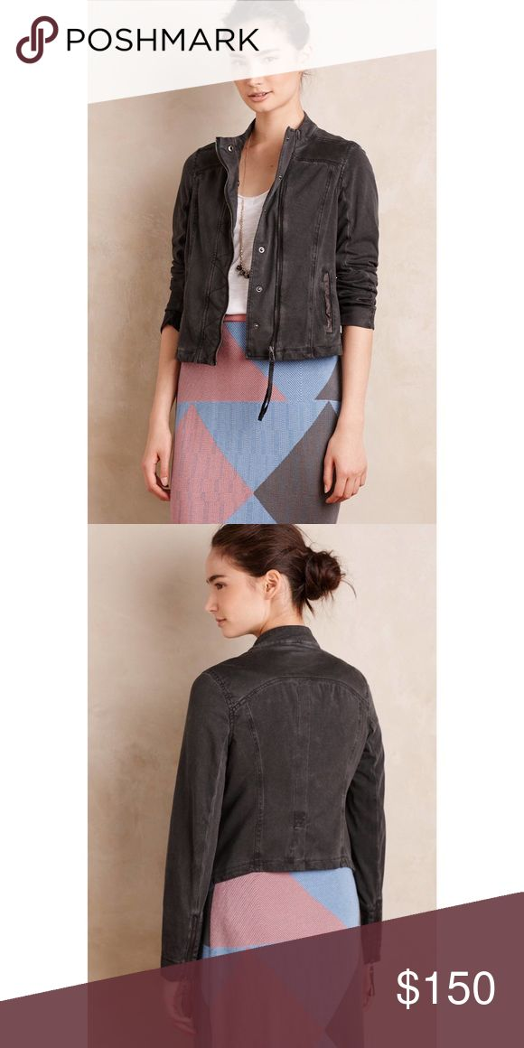 🌻Marrakech Anthropologie Harlow Bomber jacket NWT Black bomber jacket. Brand new with tags and in original packaging. Anthropologie Jackets & Coats