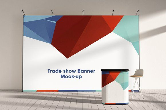 Trade Show Display Booth Mock Up Vol Trade Show Display Tradeshow Booth Banner Design Inspiration