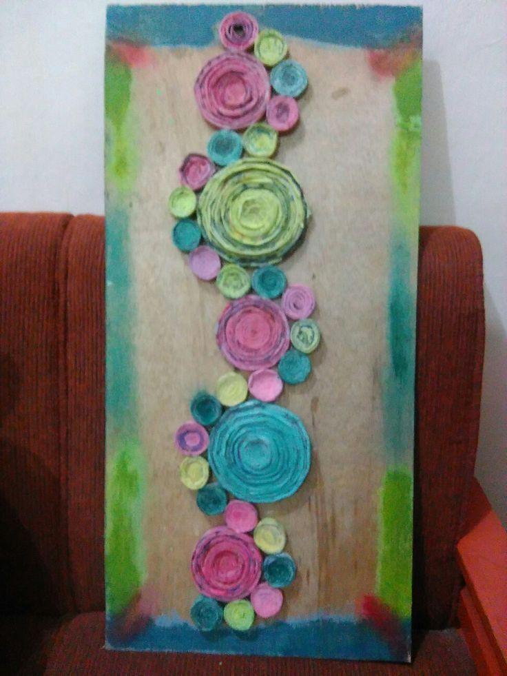 DIY Hiasan Dinding dari Kertas Koran Bekas #DIY #Recycle #HiasanDinding #WallDecoration #Colourfull #KertasKoran #NewsPaper