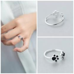 Stirling Silver Dog Paw Ring