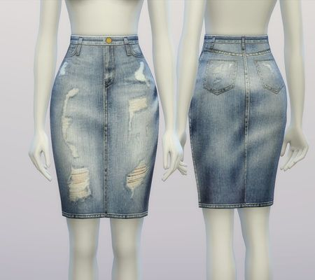 Rusty Nail: Denim skirt V 2   Sims 4 Downloads | SIMS | Pinterest ...