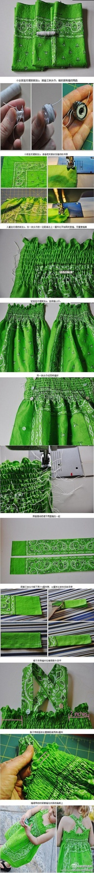 vestido niña con hilo elastico