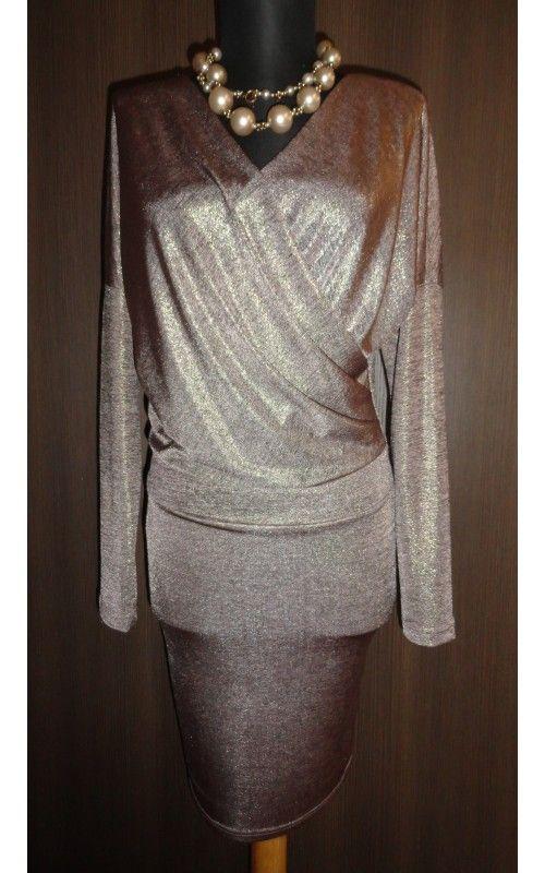 Envy arany átlapolós elejű ruha