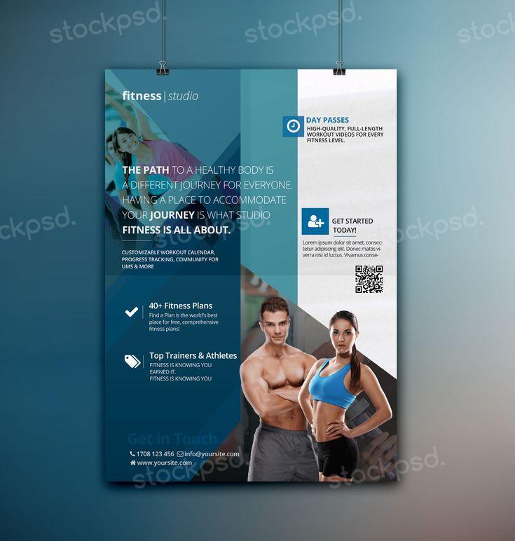 Fitness Studio u2013 Free PSD Flyer Template PSD Flyers Pinterest - fitness templates free