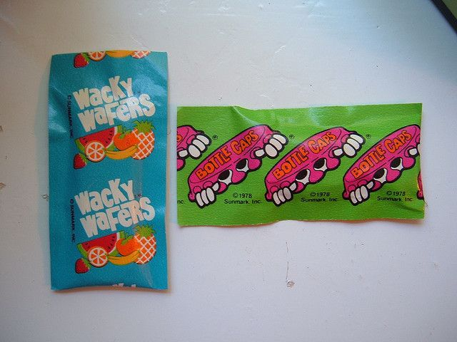 Willy Wonka WACKY WAFERS & BOTTLE CAPS by traci*s retro, via Flickr  LOVED WACKY WAFERS!!