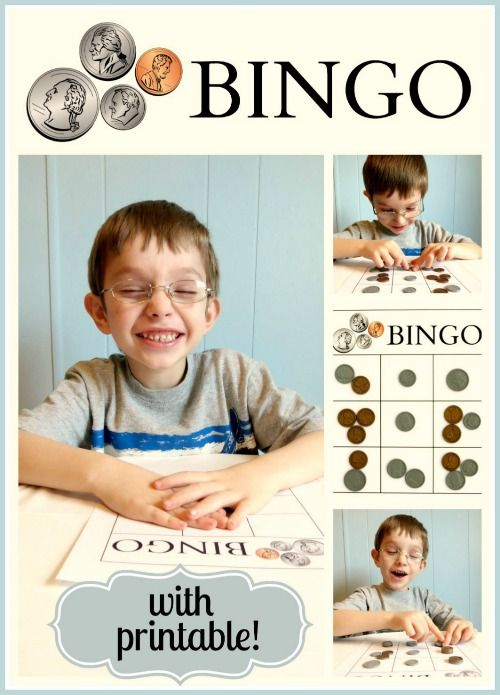 Presidents' Day Bingo- Have fun learning about the presidents and money with this coin bingo activity!