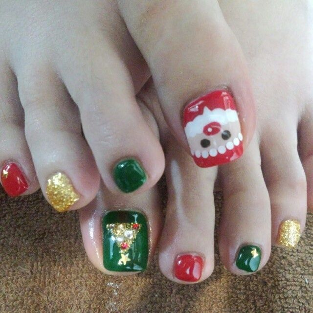 Toe Nail Art Holidays: Best 25+ Christmas Toes Ideas On Pinterest