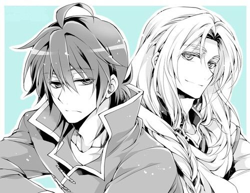 Crowley and Ferid - Owari no Seraph - Seraph of the End<<< HIS HAIR IS DOWN OMG *nosebleeds* THAT'S TOO SEXY