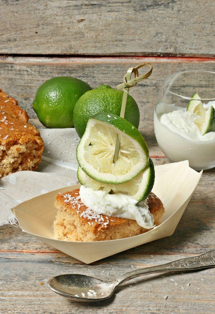 Letizia in Cucina: Torta al cocco con yogurt greco e sciroppo di lime...