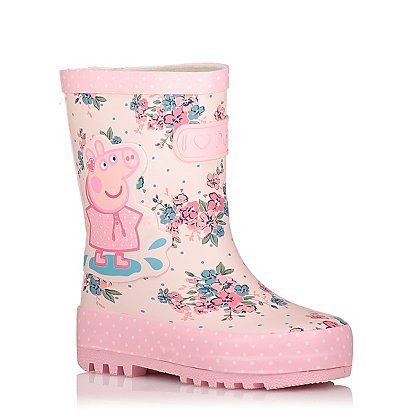 Peppa Pig Floral Wellington Boots | Kids | George