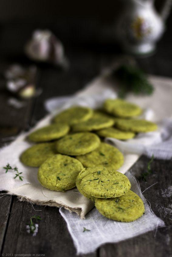 giroVegando in cucina: Biscotti salati con timo e limone e farina di ceci