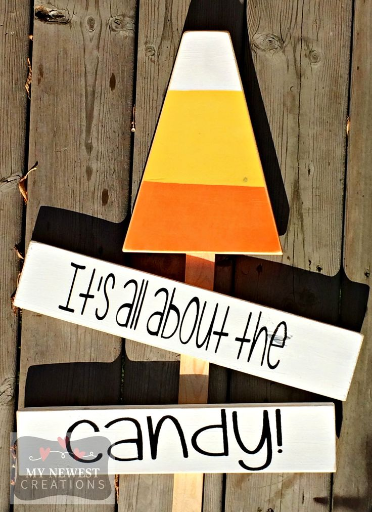 Candy Corn Lawn Sign