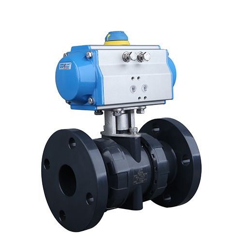 Pneumatic Actuated PVC Ball Valve with Flanged Connection. odelo.dyrus@hotmail.com