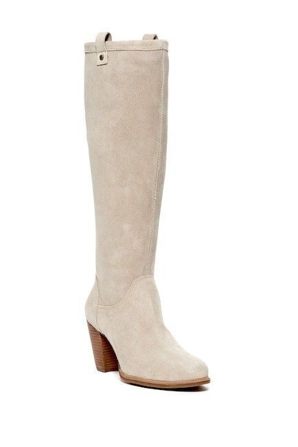 9f31515255c4 WOMENS UGG AUSTRALIA Boots Ava Tall Water Resistant Beige Suede Knee High  6M  UGGAustralia  RidingBoots