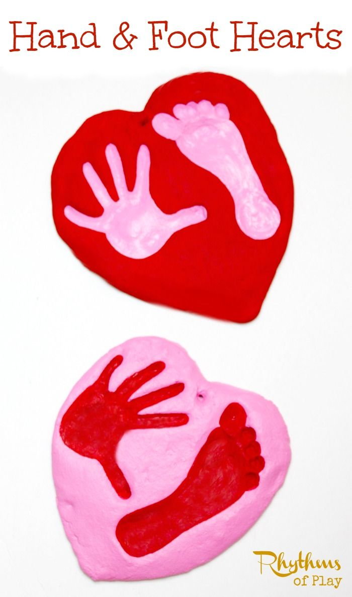 This salt dough hand and foot heart keepsake is a simple and fun craft to make with kids. It would make a wonderful gift for Valentine's Day, Mother's Day, Father's Day, Christmas, birthday's or any other special occasion.