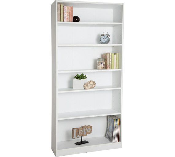 Home Maine Tall And Wide Extra Deep Bookcase White At Argos Co
