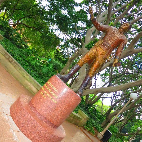 Lachlan Macquarie statue Hyde Park, Sydney