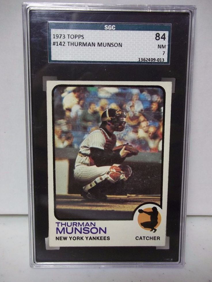 1973 topps thurman munson sgc graded nm 7 baseball card