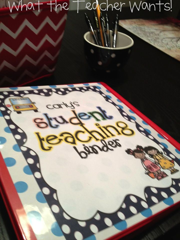 Student Teacher Binder:  Totally wish I would have had this super cute pack for my last student teacher.  :)
