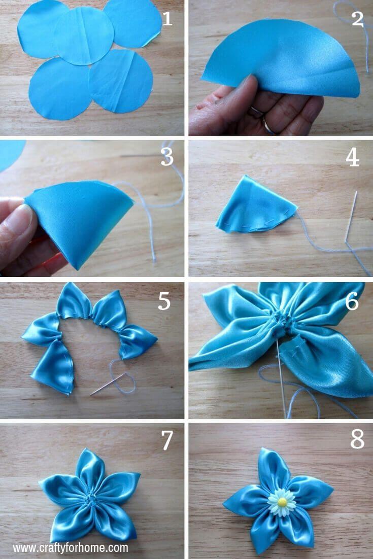 4 Easy Ways To Make Fabric Flowers Making Fabric Flowers Fabric Flower Tutorial Fabric Flowers