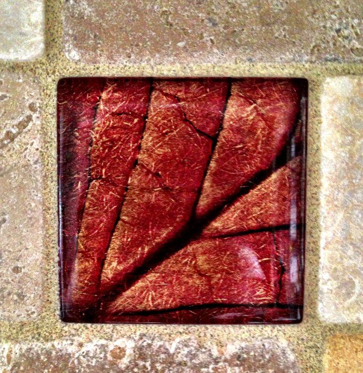 Red Leaf Tile For Backsplash Kitchen Backsplash Remodel