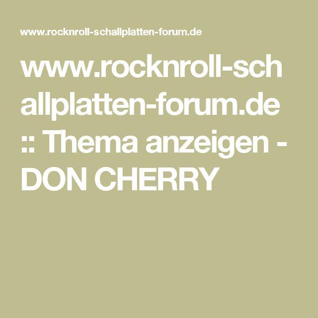 www.rocknroll-schallplatten-forum.de :: Thema anzeigen - DON CHERRY