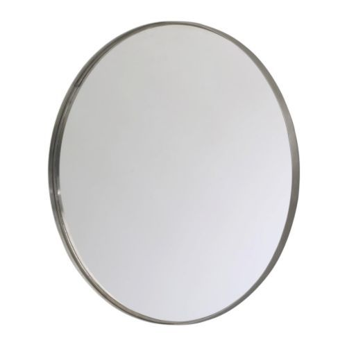 "GRUNDTAL Mirror, stainless steel stainless steel 24"" diameter. Paint the rim!"