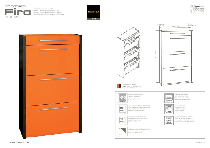 Mejores 13 im genes de zapateros originales en pinterest for Bauhaus mueble zapatero