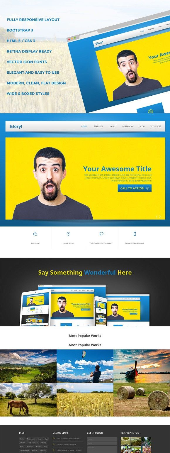 996 best Bootstrap Themes images on Pinterest | Templates, Website ...