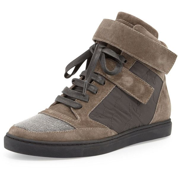 amazing price for sale Brunello Cucinelli Embellished High-Top Sneakers cheap latest cheap best store to get with credit card for sale cheap latest collections vqZyDsQV7