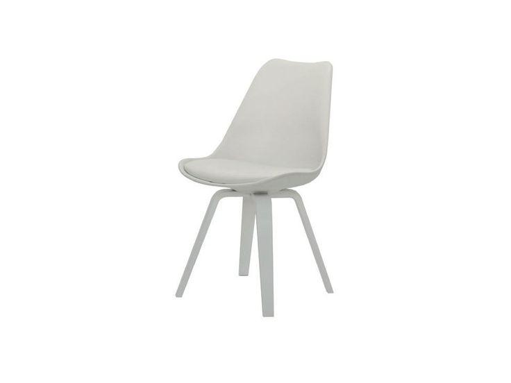 Krzesło Gina Ella białe nogi białe — Krzesła Tenzo — sfmeble.pl