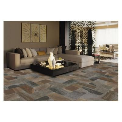 MARAZZI Developed by Nature Porfido 12 in. x 24 in. Glazed Porcelain Floor and Wall Tile (15.60 sq. ft. / case)-DN151224HD1P6 - The Home Depot