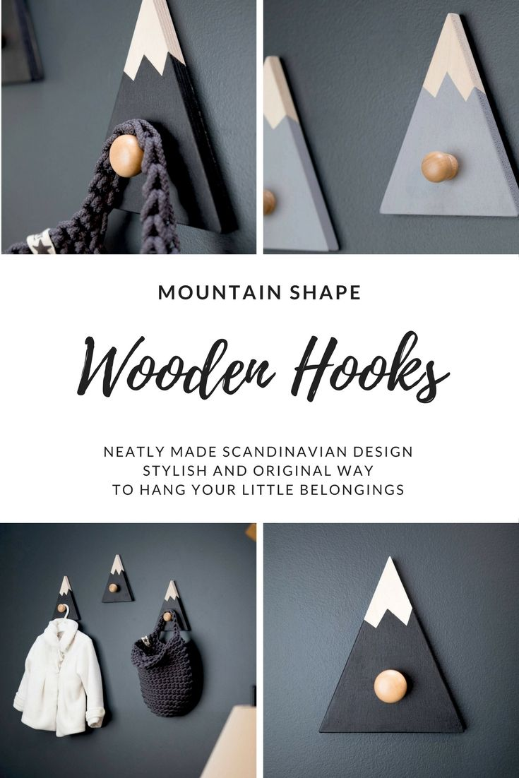 HILLS wooden hooks. Beautifully made! #Scandinavian #wooden #hooks #stylish #original #home #nursery #kidsroom #children #ad