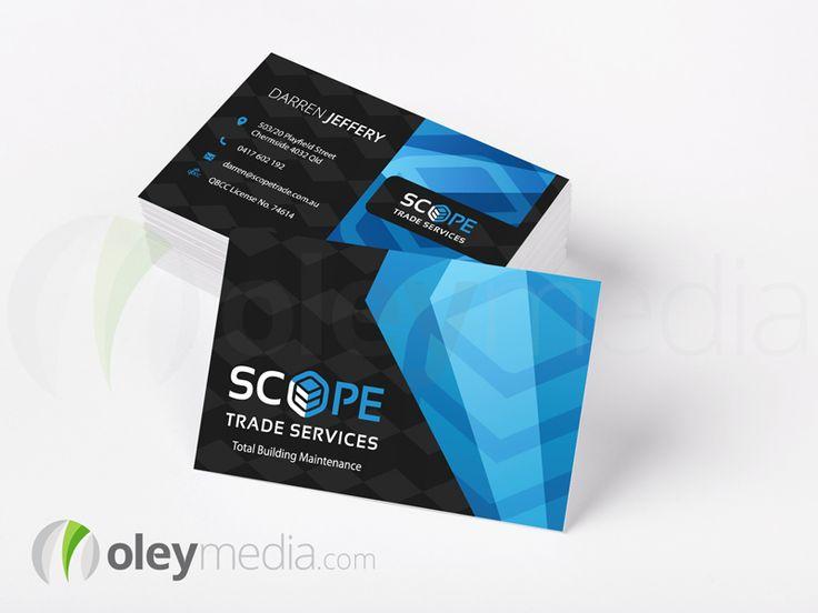 The 31 best business card design images on pinterest business card scope trade services business card design businesscarddesign oleymedia reheart Images