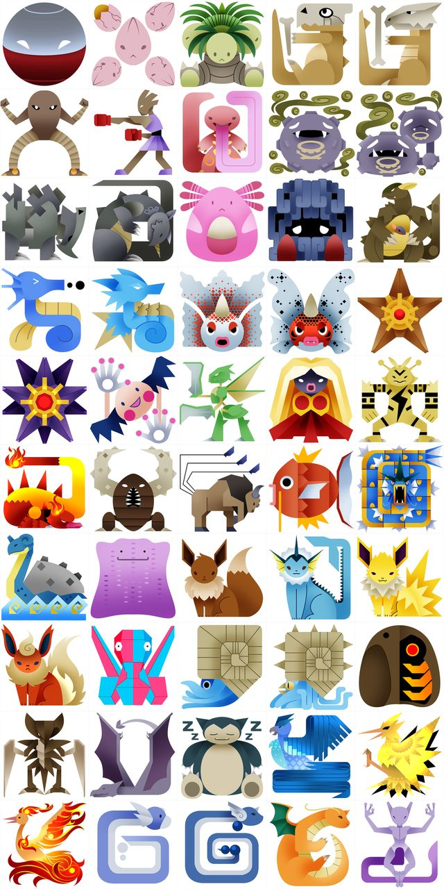 The Original 151 #Pokemon, Redone As Monster Hunter Icons | Things for #Geeks #geek