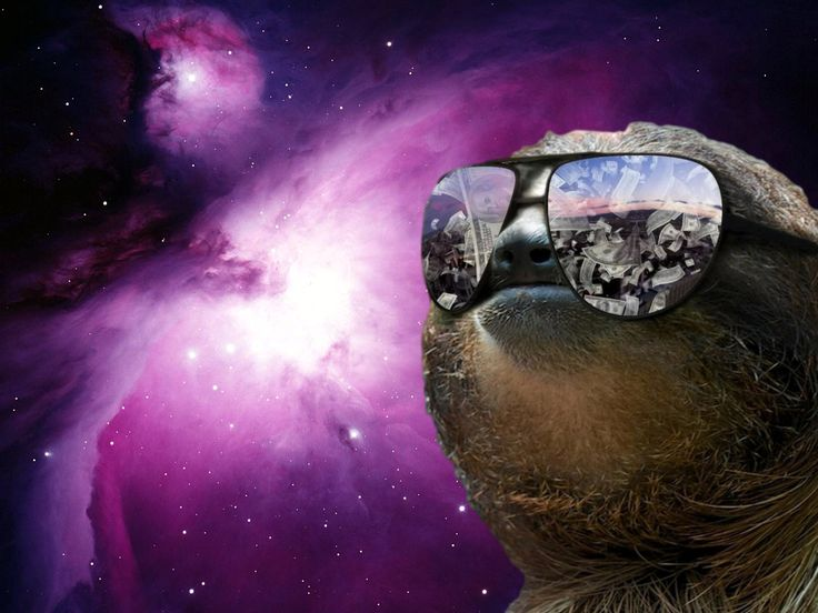 Sloth Unreal Galaxy Trippy Money Boss Hipster Mine